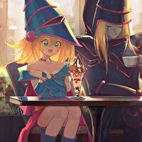 Dark Magician and Dark Magician Girl Snack Time Together