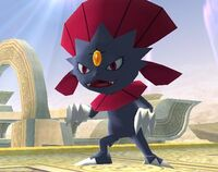 Weavile game pose