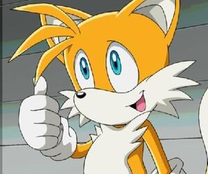 Tails thumb up