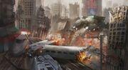 Apocalypse-technics-fire-fantasy-apocalyptic-destruction-ruins-scifi-robot-battle-wallpaper-1