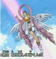 Angewomon flying super
