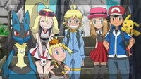 Ash's Friends in Kalos Region