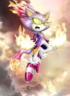 Blaze flaming paws