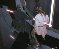 Darth maul killing qui-gon jinn