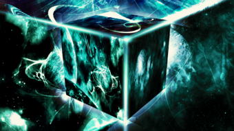 Space cube wallpaper by hardii-d5wif8w