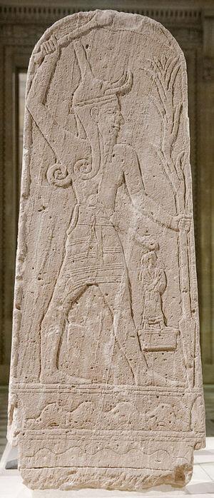 387px-Baal thunderbolt Louvre AO15775