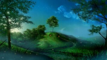 Fireflies-artwork-fictional-landscapes-shire-bag-end-1920x1080-wallpaper