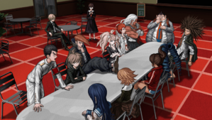 Danganronpa 1 CG - Cafeteria Meeting (Chapter 1)