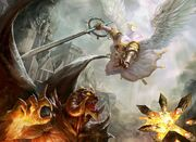 Angels video games wings battle fire demons fight evil weapons devil heroes of might and magic artwo www.wallmay.com 80