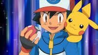 Ash and pikachu ready pokeball
