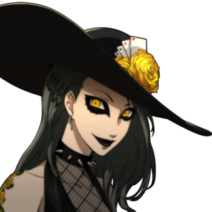 P5 portrait of Shadow Sae smiling