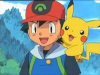 Ash and pikachu happy
