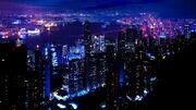 Night city sky skyscrapers 79288 2560x1440