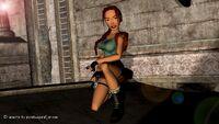 Lara posing