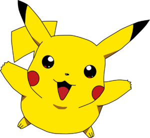 Pikachu cute happy jump