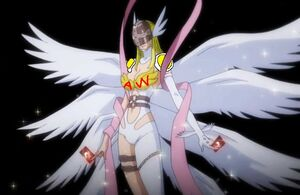 Angewomon with cards super
