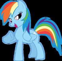 Rainbow dash cool pose