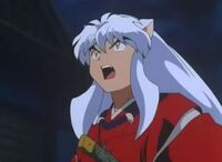 Inuyasha not pleased yell