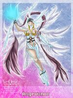 Angewomon with light orb