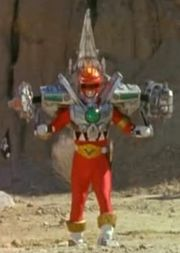 Red Galaxy Ranger Battlizer Armored