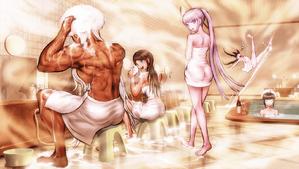 Danganronpa 1 CG - Man's Fantasy Bath Scene