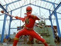 Red Dino Thunder Ranger Super Dino Mode
