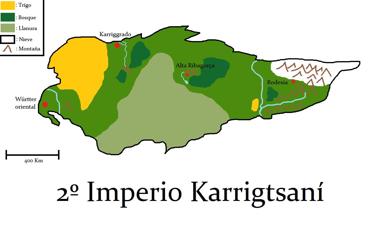 Mapa 2ndo imperio karrigstani