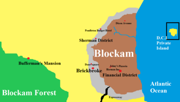 Blockam City map