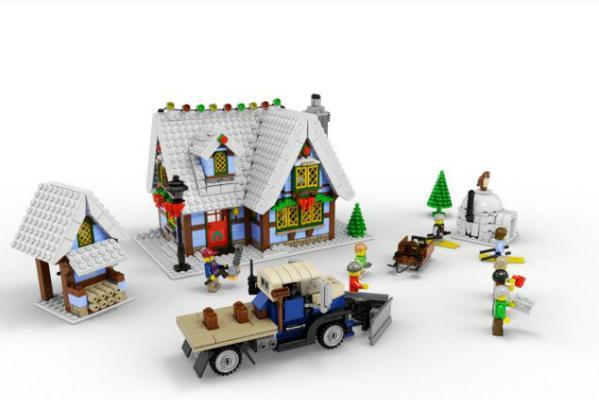 File:Winter Village Cottage.jpg