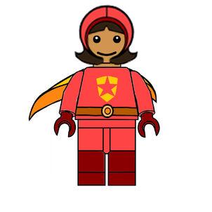 Lego WordGirl Figure