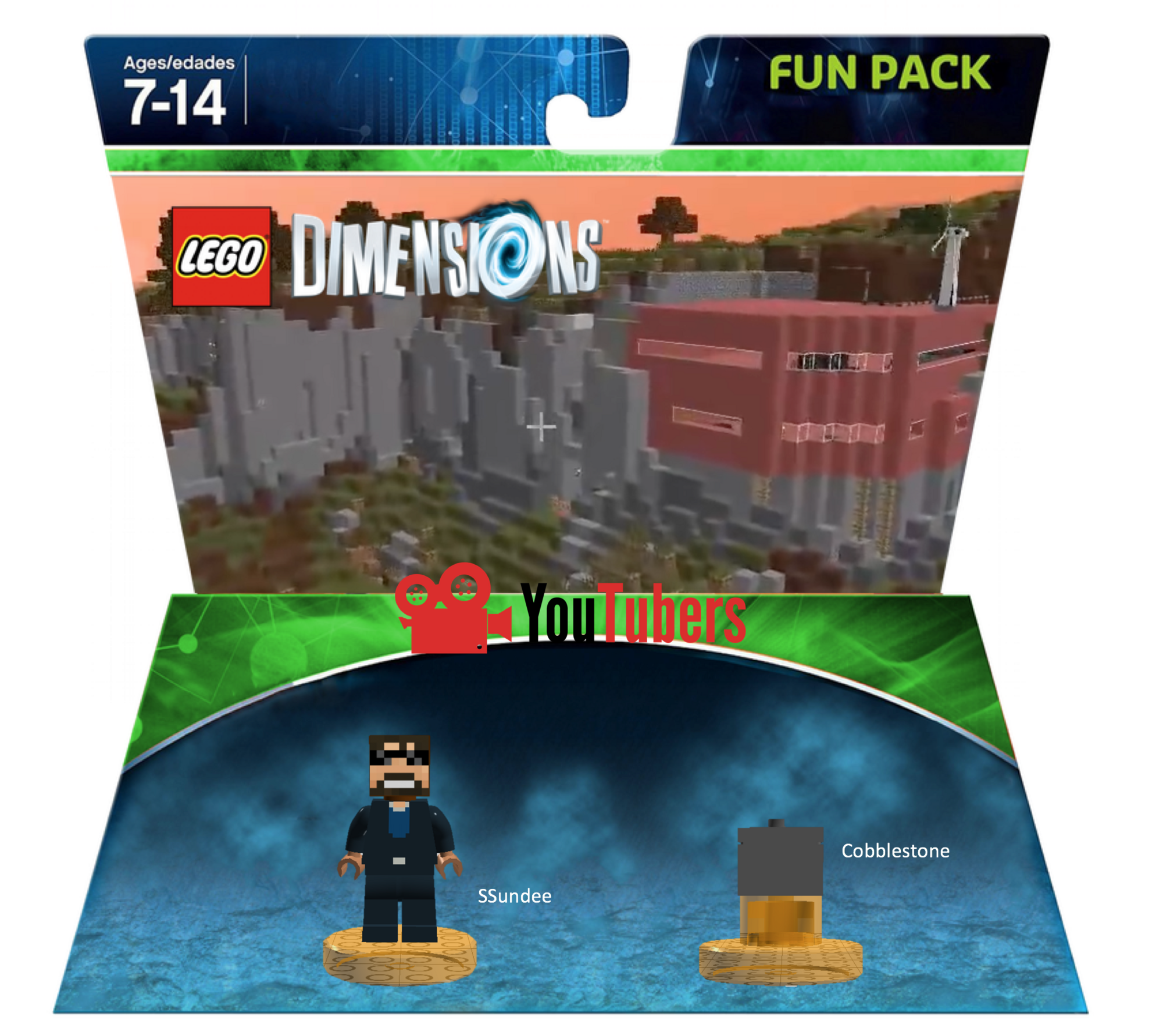 SSundee Fun Pack (MrFlameYT) | LEGO Dimensions Customs