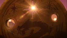 Der Tempel des Lichts offenbart sich durch das Medallion