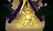 Erster Spinjitzu-Meister im Kampf