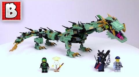 LEGO Ninjago Movie Green Ninja Mech Dragon Set 70612 Unbox Build Time Lapse Review