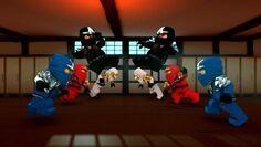 Kampf Ninja gegen falsche Ninja