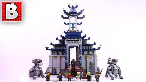 LEGO Ninjago Movie Temple of Ultimate Ultimate Weapon 70617 Unbox Build Time Lapse Review