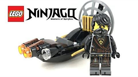 Rare LEGO Ninjago Stealthy Swamp Airboat polybag review! 2017 set 30426!