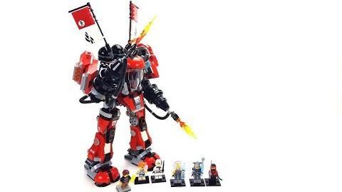 The LEGO Ninjago Movie Set 70615 - Kai's Feuer-Mech Unboxing & Review deutsch