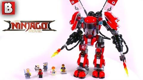 LEGO Ninjago Movie Fire Mech Set 70615! Unbox Build Time Lapse Review