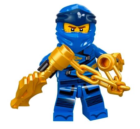 LEGO Ninjago Jay original Mater of Spinjitzu Golden Nunchuks /& black Katana