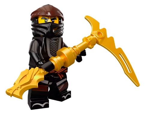 Upper Jaw w// Yellow Lightning Spirit Pattern LEGO Ninjago Dragon Head