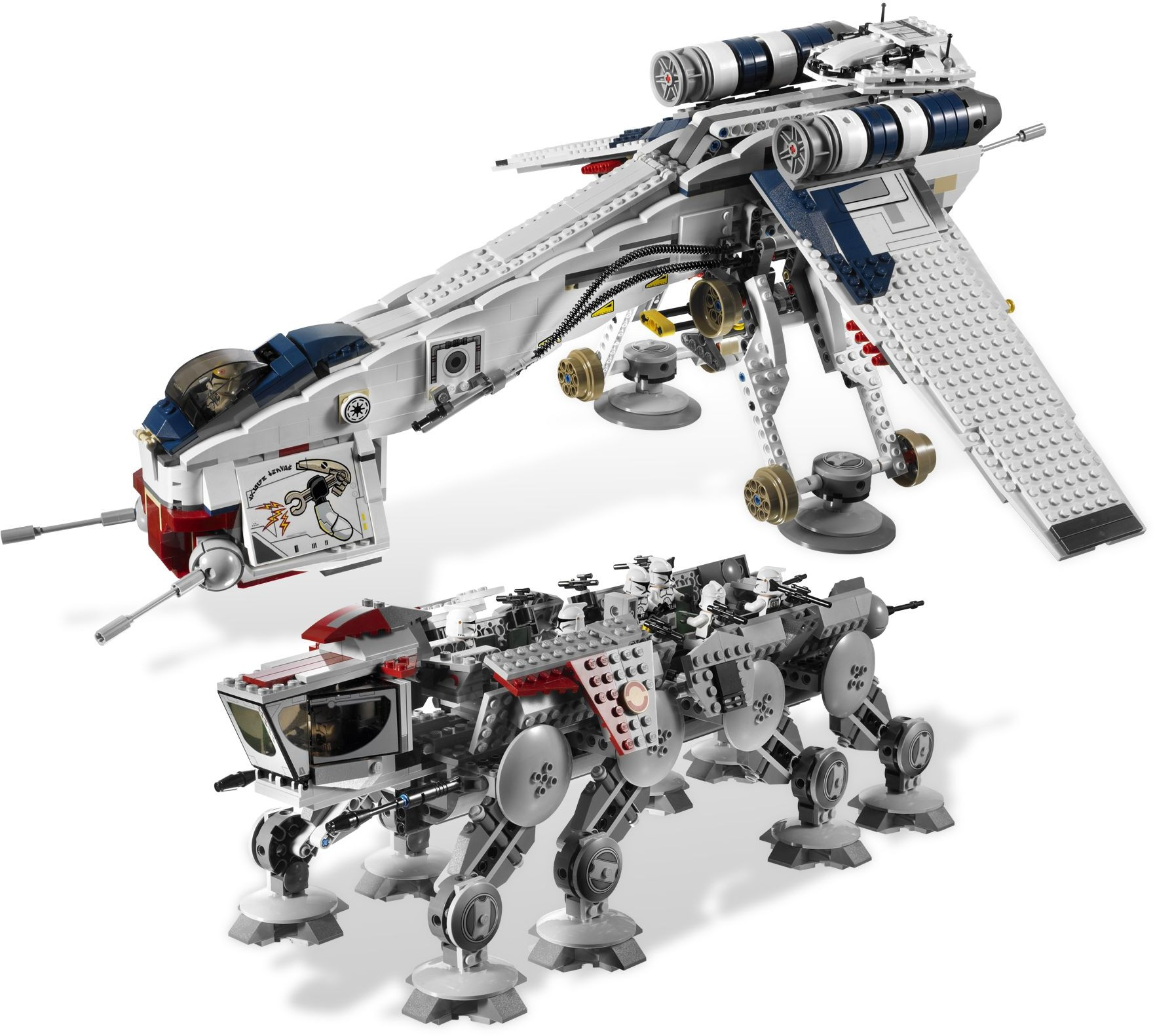 10195 Republic Dropship with AT-OT Walker | LEGO Star Wars Central