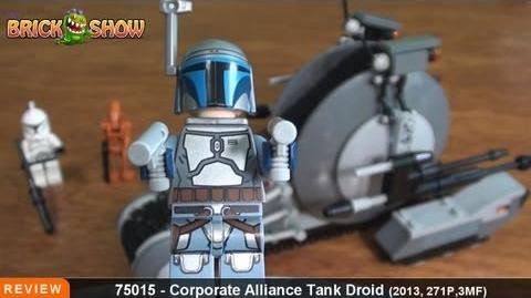 LEGO Star Wars Corporate Alliance Tank Droid Review LEGO 75015