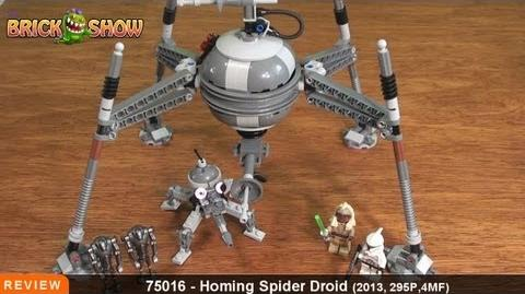 LEGO Star Wars Homing Spider Droid Review LEGO 75016