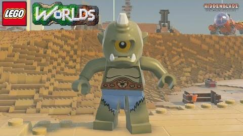 LEGO Worlds - Cyclops Free Roam Gameplay (Rare Character)