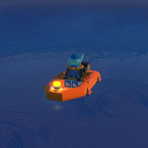A Diver takes a night excursion in his Dinghy during Early Access.