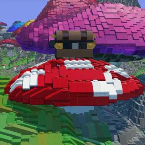Treasure chest on Mushroom