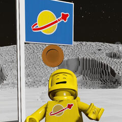 Yellow Spaceman eating a donut!