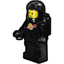 Icon Character ClassicSpace Spaceman (Black)