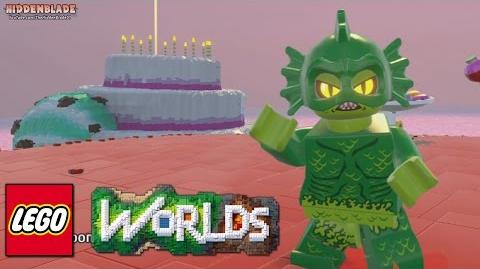 LEGO Worlds - Swamp Creature Free Roam Gameplay (Rare Character)